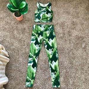 XS forever 21 two piece workout set